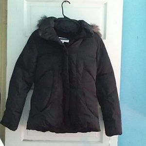 Black Calvin Klein down puffer jacket